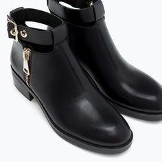 LEATHER BOOTIE WITH ANKLE STRAP from Zara 69.95EUR