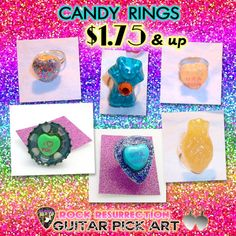Candy Rings made from real candy