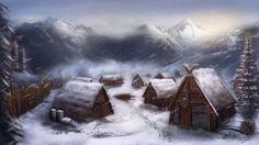 Windreach, la ciudad helada. Imagen de Michael Davini.