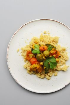 Moroccan Veggie Plate With Chickpeas, Apricots & Olives