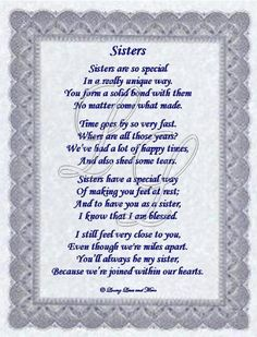 Aug. 4, 2013-Sister Day. Poems About Younger Sisters | Website Designed by Loving Lines and More © 2009