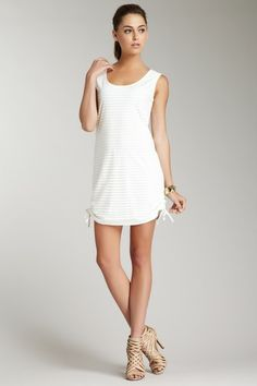 Pearl Ruched Side Tank Dress