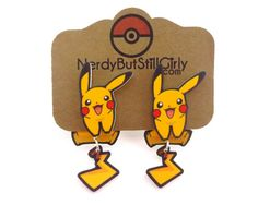 Pikachu Happy Cling Earrings – Nerdy But Still Girly