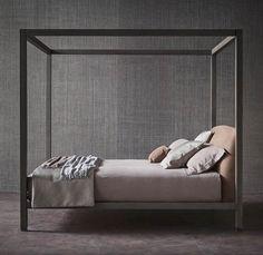 """Letto a baldacchino: suggestioni romantiche e linee rigorose [Ari"""" letto - bed -  design Emanuela Garbin - Mario Dell'Orto]  #Flou #Beds #Bedroom #Letto #InteriorDesign #HomeDecor #Arredamento #Furnishings"""