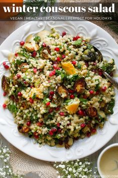 I am in love with couscous. Coucous Salad, Couscous Salad Recipes, Winter Salad Recipes, Pearl Couscous Recipes, Israeli Couscous Salad, Quinoa Salad, Vegetarian Recipes, Healthy Recipes, Winter Vegetarian Recipe
