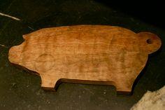 Vintage Wooden Pig Cutting Board. $30.00, via Etsy.