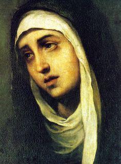 """c0ssette: """"Bartolomé Esteban Perez Murillo - Mater Dolorosa (c.1668/70) """""""