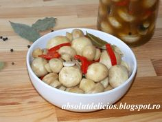 Absolut Delicios - Retete culinare: CIUPERCI MARINATE Vegetarian Recipes, Cooking Recipes, Healthy Recipes, Preserves, Pickles, Meal Prep, Food Photography, Oatmeal, Stuffed Mushrooms