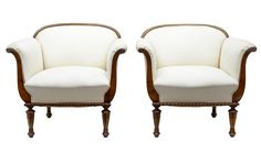 PAIR OF EARLY 20TH CENTURY BIRCH ART DECO ARMCHAIRS