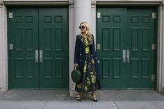 Dress:ASOS(one of my favorites I have found in a long time - shop my other ASOS picks below). Bag:Mansur Gavriel. Shoes:Club Monaco(also love them in this silk tie print). Coat:Smythe. Luggage:Steamline. Sunglasses:Linda Farrow.