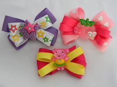 bows with cute center pieces
