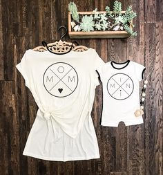 Mommy and me outfits, mommy and me, relaxed T-shirt, short romper, gender neutral, mom and son, mom gift, matching family, matching outfits.