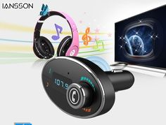 New 2016 Bluetooth FM Transmitter handsfree car kit cigarette lighter charger card musical sound Car mp3 player