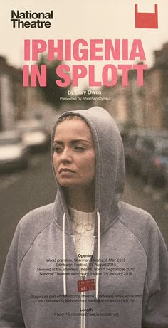 Iphigenia in Splott, NT The Shed. By Gary Owen With cast of one Sophie Melville. 4 Feb 2016.