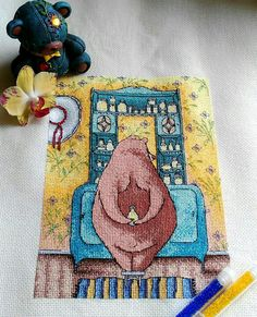 Схема для вышивки крестом Любимый комод. Отшив.