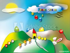 Osterkarte   Ostergruß   Zeichnung   naive Malerei   Original Frank Xavier - Buy this stock illustration and explore similar illustrations at Adobe Stock   Adobe Stock Naive, Adobe, Illustrations, Explore, The Originals, Happy Easter, Painting Art, Creative, Nice Asses
