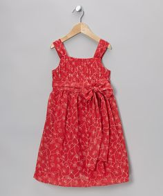 Red Evline A-Line Dress - Toddler & Girls | Daily deals for moms, babies and kids