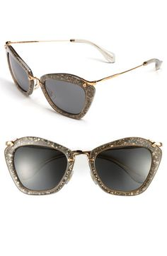 fb56bba576d6 Miu Miu Glitter Infused Cats Eye Sunglasses available at  Nordstrom Oakley  Sunglasses