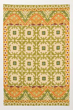 Floral Fresco Rug #anthropologie    love these for my hallway- think I'm gonna do it.  wool & over 75% off....