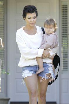 Kourtney Kardashian with Penelope