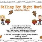 Your students will love these two fall themed centers! A great way to reinforce and practice sight word recognition! ...