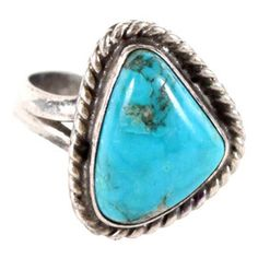 I pinned this Vintage Greta Silver & Turquoise Ring from the Vintage Variety event at Joss and Main! Turquoise Rings, Turquoise Stone, Thumb Rings, Swagg, Jewelry Accessories, Turquoise Accessories, Jewelery, Fashion Jewelry, White Gold