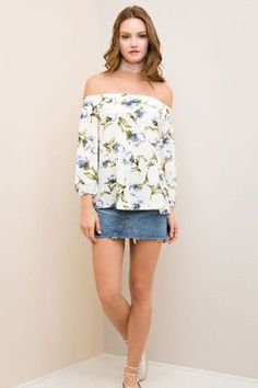 Day Dreamin' Top- White from Chocolate Shoe Boutique