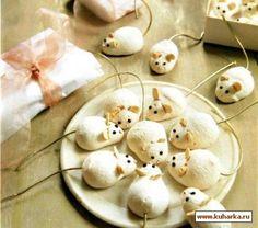 Рецепт: Пирожное «Мышки-меренги»