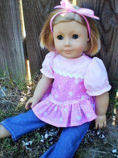 American Girl Doll Clothes Handmade Blue by sassydollcreations