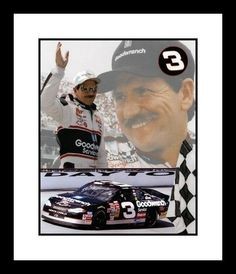Dale Earnhardt Sr. Framed 8x10 Photo - NASCAR Tribute Collage by NASCAR. $53.95. This unsigned 8x10 Photo has been double matted with acid free mats - white outside, black inside. Item is then framed in a high quality black wood moulding. Photo is protected by high strength premium clear glass. Approximate finished framed size is 12 1/4 inches by 15 1/2 inches. Each frame is inspected individually for defects then bubble wrapped for protection.