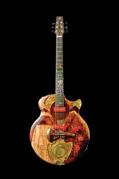 New Spalt Instruments The Nouveau Series Spinning Arachnid - Electric Guitar at Dream Guitars Acoustic Guitar Strings, Jazz Guitar, Cool Guitar, Acoustic Guitars, Rick E, Ex Machina, Guitar Design, Custom Guitars, Mandolin