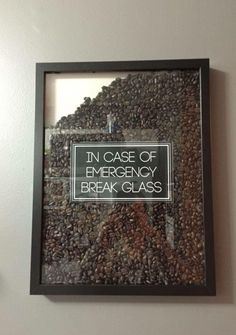 Funny idea for coffee drinkers. Fill picture frame with coffee beans. - Funny idea for coffee drinkers. Fill picture frame with coffee beans. I Love Coffee, Best Coffee, Coffee Break, My Coffee, Coffee Bars, Coffee Bar Ideas, Coffee Time, Cozy Coffee Shop, Coffee Maker