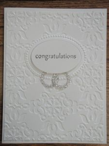 Wedding card/ I would make one ring just pain gold