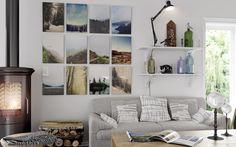 Tauluseinä valokuvatauluilla - lisää kuvia erilaisista tauluseinistä Etuovi-blogissa
