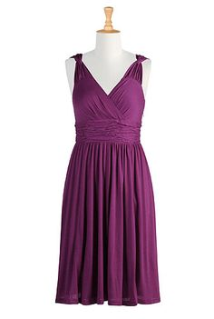 another cute eshakti dress--but it looks purple and is called magenta. the latter is a color i love, the former, not so much.