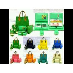 Paket Tas WeBe + Pouch + Dompet + Wedges Anyam
