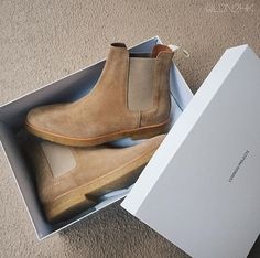 Common Projects Chelsea boots.