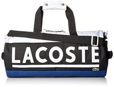 Lacoste Mens Sport Urban Game Duffle Bag True BlueBlackWhite One Size >>> Read more reviews of the product by visiting the link on the image.