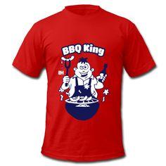 BBQ King Shirts. #Spreadshirt #Cardvibes #Tekenaartje #BBQ #Grill #GrillFest