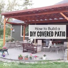 Beautiful How To Build A DIY Covered Patio Using Lattice And