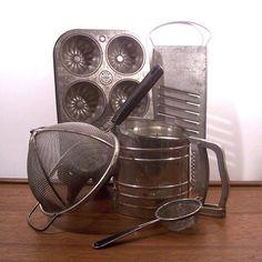 Vintage Metal Baking Tools