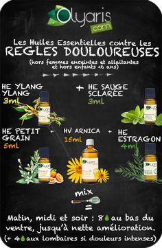 Painful Rules and Essential Oils: The Natural and Effective Remedy - Healthy - Naturopathy, Skin Routine, Natural Health Remedies, Green Life, Wellness, Healthy Tips, Diy Beauty, Body Care, Essential Oils
