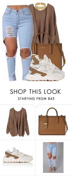 something simple. by envymeeeee on Polyvore featuring NIKE, DKNY and Chanel