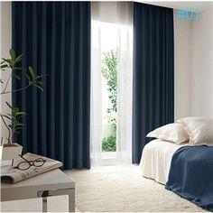Moderner Vorhang aus Samt Unifarbe im Wohnzimmer