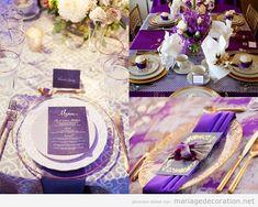 Déco mariage Ultra Violet, couleur Pantone année 2018   Décoration Mariage   Idées pour décorer un mariage pas cher