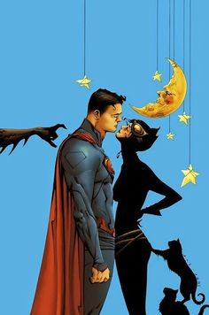 Superman & Catwoman-- the best part of this is Batman's hand coming into frame
