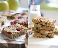 My breakfast squares (aka squares squares) in 2 gourmet recipes – Megalow Food Source by clarasoulard Overnight Oats Chia, Food Doctor, Gourmet Recipes, Cooking Recipes, Protein, New Fruit, Best Fruits, Healthy Dog Treats, Healthy Food