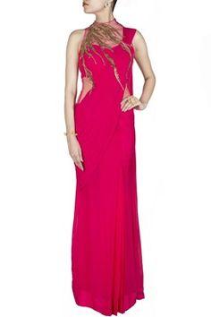 1f3d379820a Buy Online Best Saree Gown Top Dress - Gaurav Gupta Saree Gown