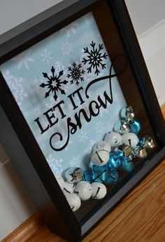 Let it Snow Shadow Box by Simplybannerlicious on Etsy