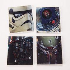 Vandor 99285 Star Wars 4 pc Glass Coaster Set, Multicolor - Cool Kitchen Gifts